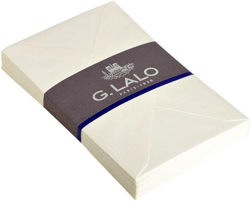 Envelop Lalo bank C6 gevergeerd wit