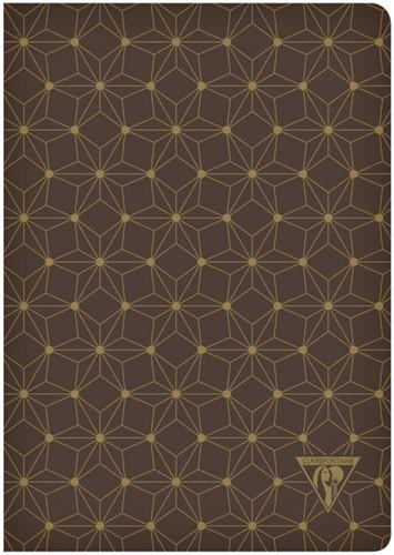Notitieboek Neo Deco A5 48vel lijn mahonie