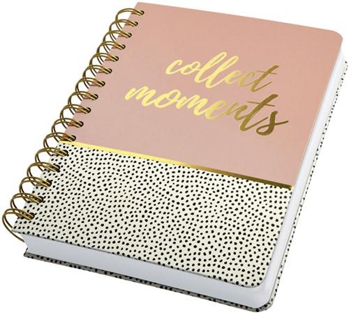 Notitieboek Sigel Jolie A5 spiraal Sweet Dots