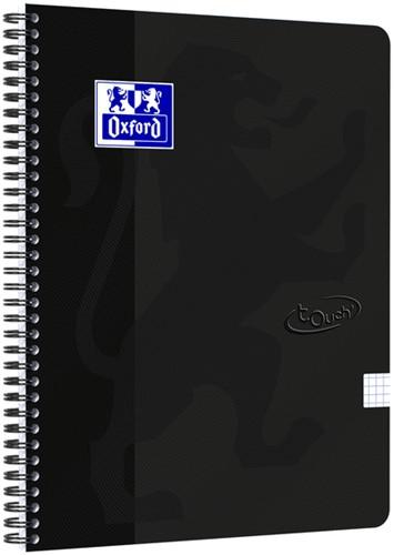 Spiraalblok Oxford Touch A4 ruit 5mm 70vel zwart