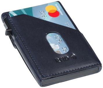 Kaarthouder Tony Perotti Slim Furbo RFID leer blauw