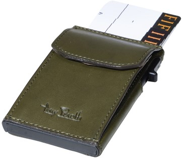 Kaarthouder Tony Perotti Slim Furbo RFID leer groen