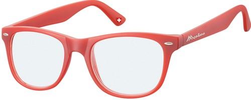 Leesbril Montana blue light filter +3.50 dpt rood