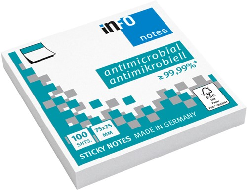 Memoblok Info Notes 75x75mm wit