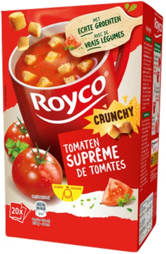 Royco tomatensoep Supreme met croutons 20 zakjes