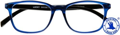 Leesbril I Need You Lucky +2.50 dpt blauw-zwart