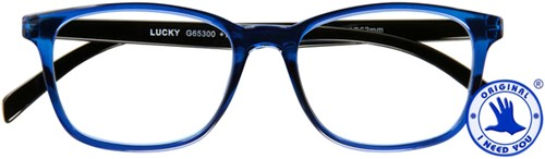 Leesbril I Need You Lucky +3.00 dpt blauw-zwart