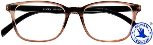 Leesbril I Need You Lucky +1.50 dpt bruin-zwart