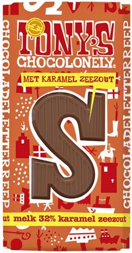 Tony's Chocolonely melk karamel zeezout 180gr