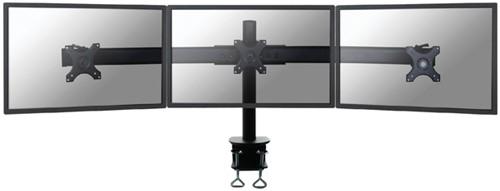"""Monitorarm Newstar D700D 3x10-27"""" met klem zwart"""