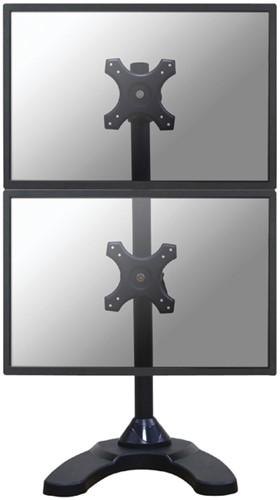"Monitorarm Newstar D700DDV 2x10-27"" verticaal op voet zwart"