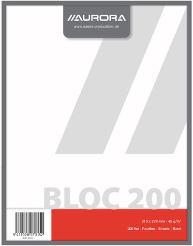 Kladblok Aurora 210x270mm 200vel blanco