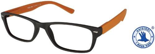 Leesbril +2.00 Feeling bruin-oranje