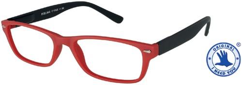 Leesbril +3.00 Feeling rood-zwart