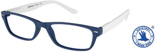Leesbril X +3.00 Feeling Blauw-Wit
